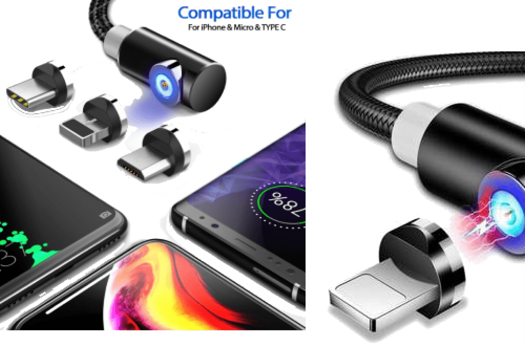 3-in-1 Magnetic Phone Charger for Android & IPhone - 5econds charger review